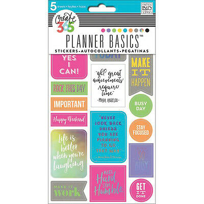 MAMBI Create 365 The Happy Planner Stickers Rock This Day  Planner Accessories