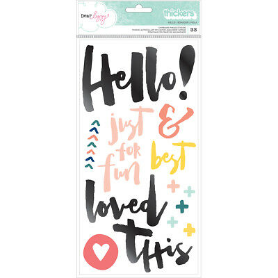 American Craft Saturday Collection Thickers Alpha Petals Phrase Thickers