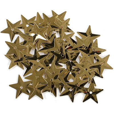 5/8 Inch Gold Star Sequins