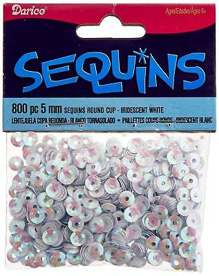 Darice Cupped Sequins White Iridescent 5mm