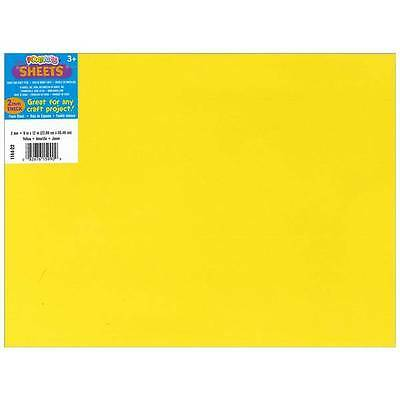 "Darice Foamies Foam Sheet 9""X12"" 2mm  Yellow  10/Pack"