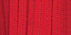 Chenille Stems  6mm  Red  25 Pieces