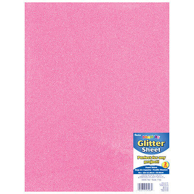 "Darice Glitter Foam Sheet  Pink  9"" x 12""  2 mm Thick  1 Each"