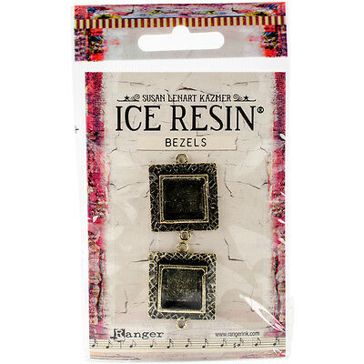 Ranger Ice Resin Milan Bezels Closed Back Square Small Antique
