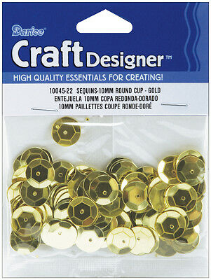 10mm Gold Cup Sequins