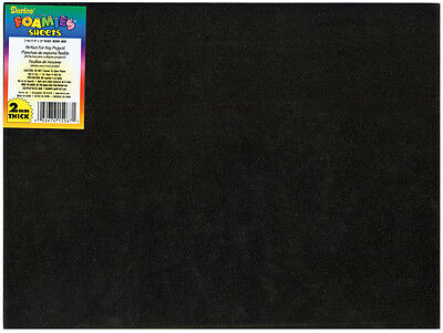 "Darice Foamies Foam Sheet 9""X12"" 2mm  Black  10/Pack"