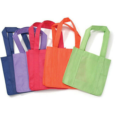 "Non Woven Tote Bags 12.5"" x 22"" Bright Colors (Assorted 1 of 6)"