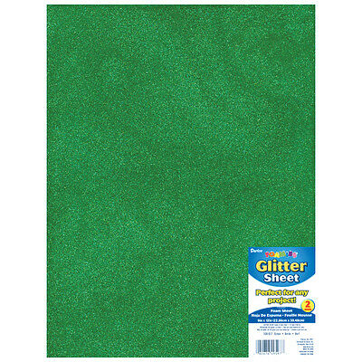 "Darice Glitter Foam Sheet - Green - 9"" x 12"" - 2 mm Thick - 1 Each"