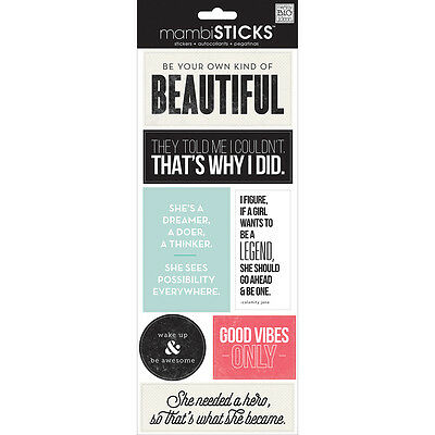 Me and My Big Ideas Be Your Own Beautiful Stickers