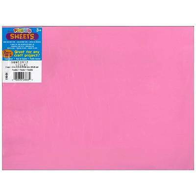 "Darice Foamies Foam Sheet 9""X12"" 2mm  Fuchsia  10/Pack"