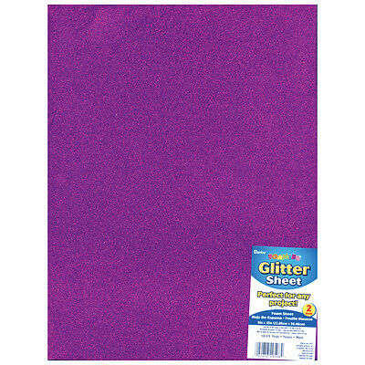 "Darice Glitter Foam Sheet - Purple - 9"" x 12"" - 2 mm Thick - 1 Each"