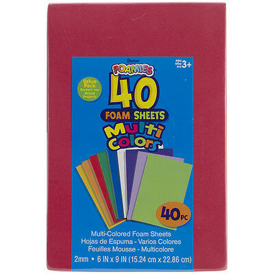 Darice Foamies Sheets Assorted Colors 6 X 9 Inches