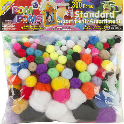 Pom-Poms Standard Assortment - Assorted Sizes & Colors - 300/ Pack