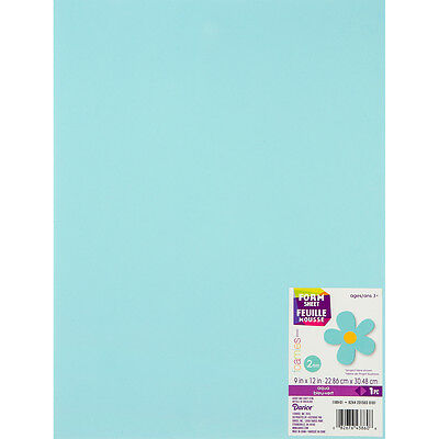 "Darice Foamies Foam Sheet 9""X12"" 2mm - Aqua - 10/Pack"