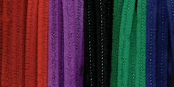 """Darice Chenille Stems, Assorted Jewel Colors, 6 mm, 12""""  100/pack"""