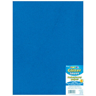 "Darice Glitter Foam Sheet - Royal Blue - 9"" x 12"" - 2 mm Thick - 1 Each"
