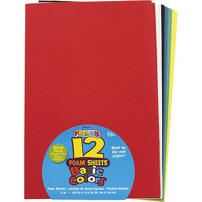 Darice Foamies Sheets Assorted Colors 12 X 18 inches