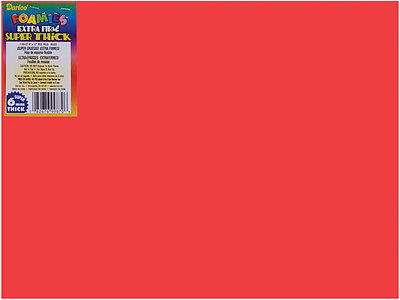 "Darice Foamies Foam Sheet - Red - 9"" x 12"" - 6 mm Thick - 1 Each"