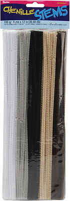 """Darice Chenille Stems - Pipe Cleaners- 0.24"""" Diameter - 12"""" Length - 100/ Pack"""