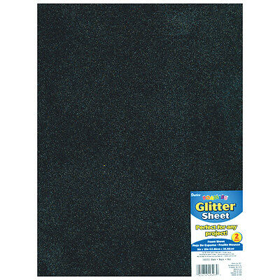 "Darice Glitter Foam Sheet  Black  9"" x 12""  2 mm Thick  1 Each"
