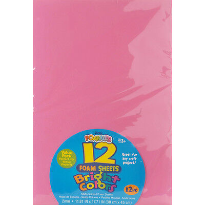 Darice Foamies Sheet Pack  Bright Assorted Colors 12 X 18 Inches