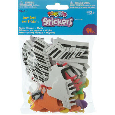 Darice Foamies Stickers Music Theme Assorted Colors
