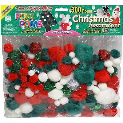 Pepperell Pom Poms Christmas Assorted Christmas Colors and Sizes