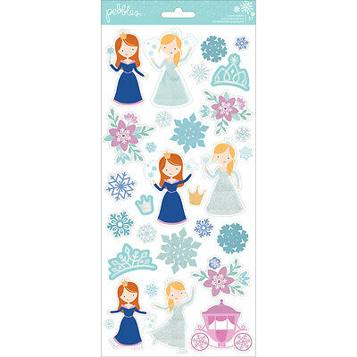 American Crafts  Wter Wonderland Christmas Stickers With Glitter Accents Prcess