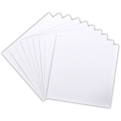 Core'dinations Paper Core Basics: 110 lb 12x12 Smooth White Cardstock