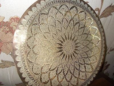 Beautiful Large French Vintage Brass Serving Tray Ref T11/256