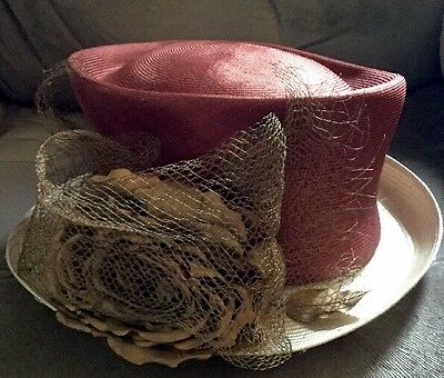 Stunning Rust Red & Gold Wedding Hat by Philip Treacy Unusual