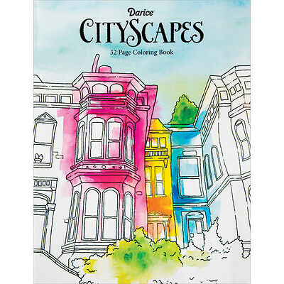 Darice  Coloring Book Cityscapes