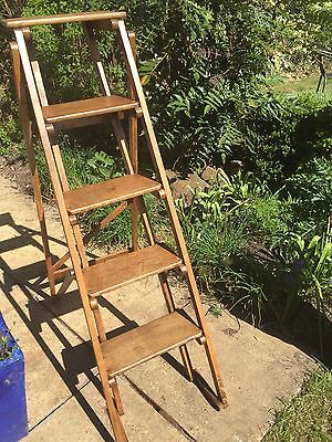 Oak And Brass GPO Ladder