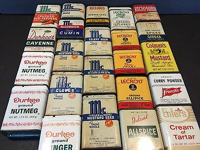 23 Vintage Advertising Spice Tins From 10 Different Companies