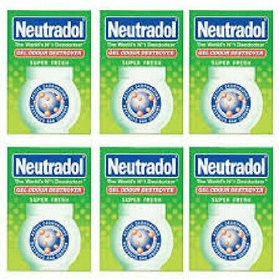 Neutradol Gel Fresh Air Freshner  140g x 6 Packs