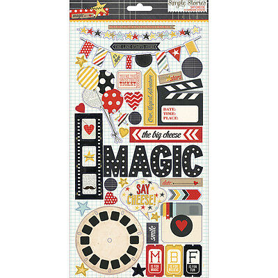 """Say Cheese Chipboard Stickers 6""""X12"""""""