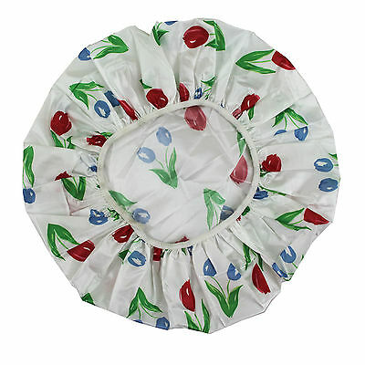 Shower Caps Reuseable Head Cover Caps Floral Print