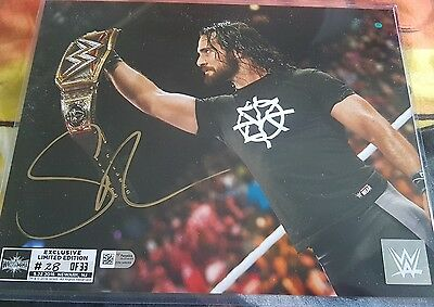 Seth Rollins autographed limited edition print. Limited to 33 this is print 17