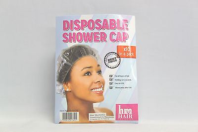 10 Pack Disposable Shower Caps Hair Bath Polythene Waterproof Travel New**Best**