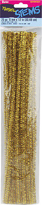 Metallic Gold Pipe Cleaners & Cleaning Tools: 6mm, 25/pack