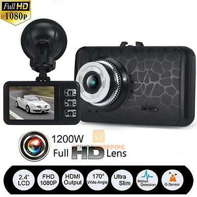 "2.4"" LCD HD 1080P Car DVR Video Camera Recorder G-Sensor Dash Cam Night Vision"