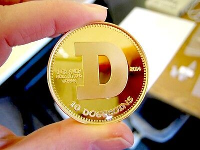 Physical Dogecoin – 2014 24kt Gold Plated Coin Copper Edition