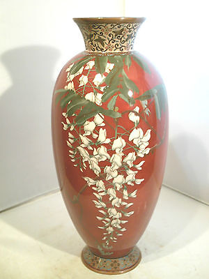 Large Antique  Japanese Cloisonne Vase