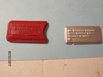 Vintage Charge Plate from Charga-Plate Stores of Toledo, Ohio w/case
