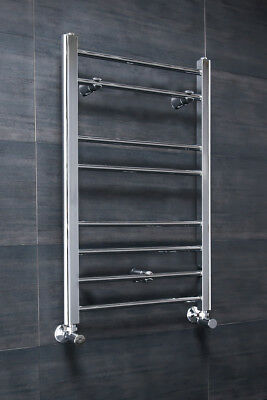 Bathroom Straight Heated Towel Radiator Ladder Rail 800 x 500 Chrome Warmer