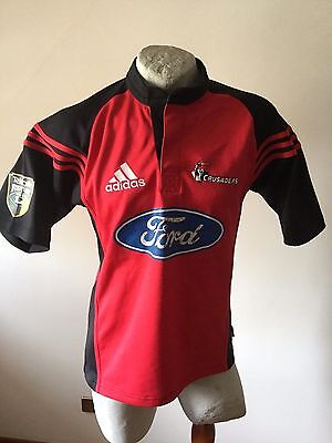 Maglia rugby crusaders 2005 home adidas ford shirt trikot jersey vintage