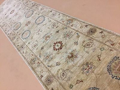 "2'.8"" X 11'.9"" Light Brown Beige Ziegler Persian Oriental Rug Runner Handmade"