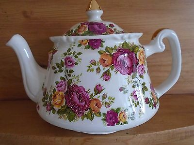 Vintage P & K Chintz Roses Teapot Perfect For A Teaset/wedding/cake Stand