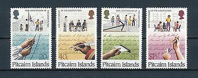 Pitcairn 315-18 MNH, Constitution, 1988