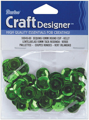 10mm Kelly Green Cup Sequins